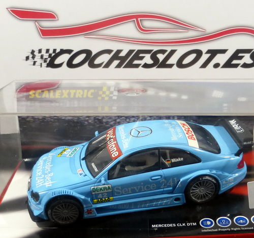 MERCEDES CLK DTM MUCLE AZUL REF.6140 TECNITOYS