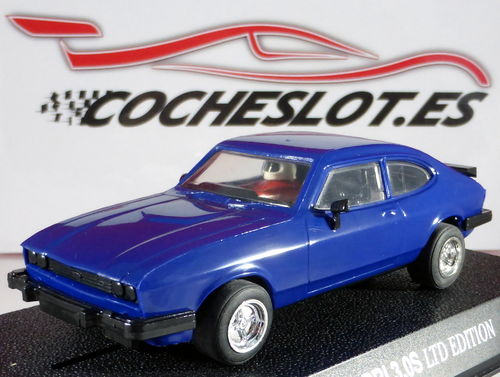 FORD CAPRI 3.0 AZUL LTD. ED. 1000 U. REF.C2060  SCALEXTRIC UK 1997