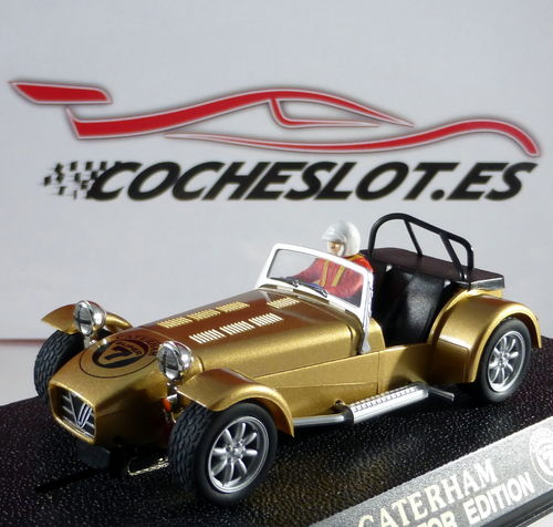 CATERHAM 7 ORO LTD. ED 500 UNIDADES REF.C2308 SUPERSLOT SCALEXTRIC UK