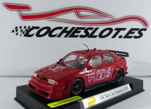 155 V6 TI UK SLOT CAR FESTIVAL 2018 EDL. 74/100 REF.CA-SC35AB SLOT.IT
