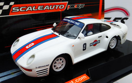 PORSCHE 959 STREET CAR MARTINI HOMESERIES REF.SC6094 SCALEAUTO