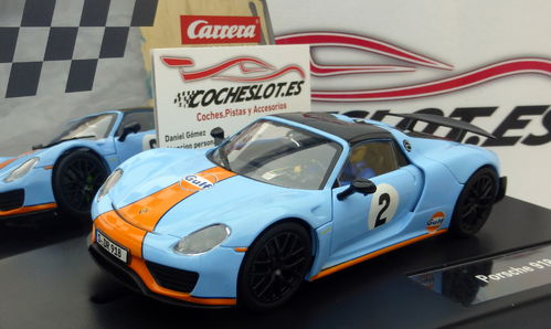 EVOLUTION PORSCHE 918 SPYDER GULF RACING Nº02 REF.20027549 CARRERA