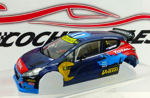 CARROCERIA PEUGEOT 208  RED BULL SCALEAUTO
