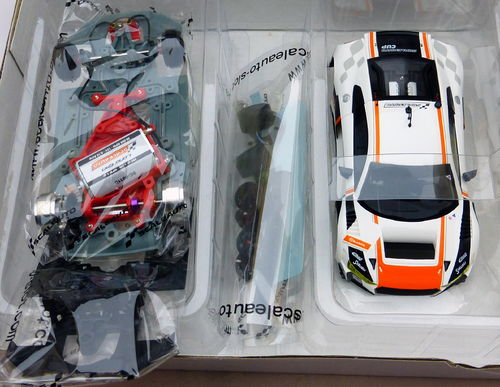 AUDI LMS GT3 CUP 2017 WHITE/ORANGE REF.SC6180d SCALEAUTO