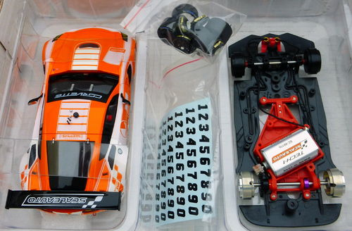 CORVETTE C7R CUP 2017 ORANGE/WHITE REF.SC6179d SCALEAUTO